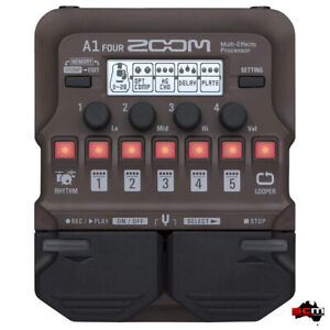 ZOOM A1 FOUR Acoustic Guitar Instrument Multi-Effects Processor Modeling Pedal