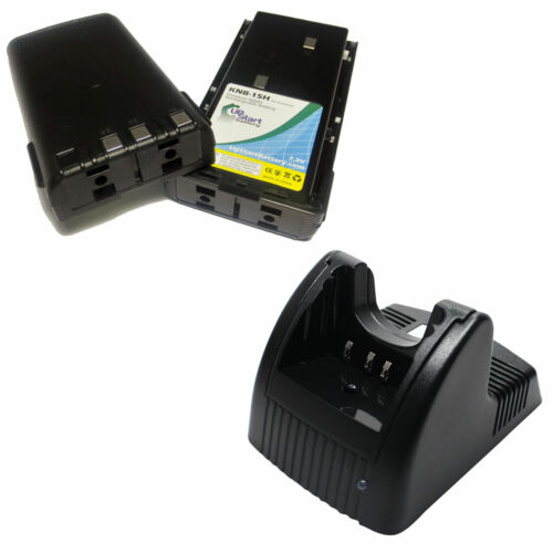 2x Battery Charger for Kenwood KNB-15 TK-2107 TK-270G TK-260G TK-272