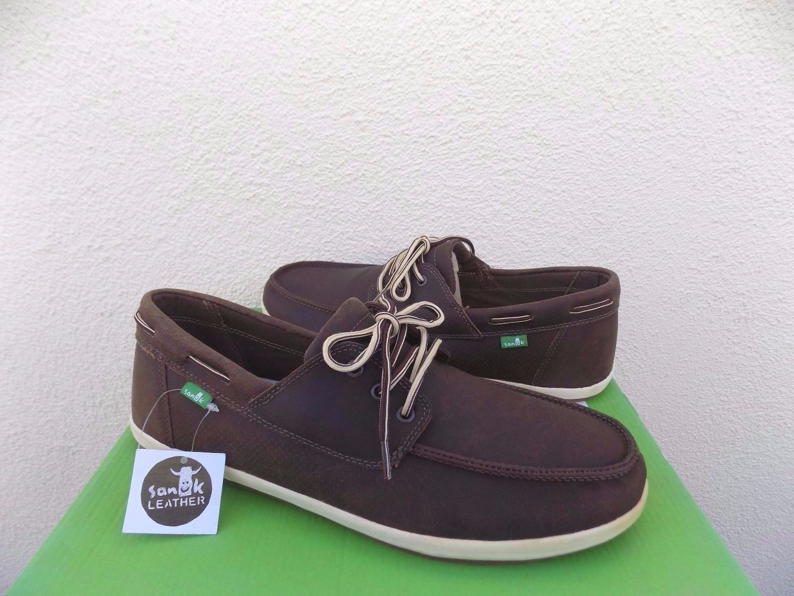 SANUK CASA BARCO DELUXE BROWN LEATHER LACE-UP BOAT Schuhe, Schuhe, Schuhe, US 8/ EUR 41 NWT 0f0d78
