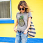 Women-Pineapple-Printing-T-Shirt-Top-Short-Sleeve-Casual-Tee-Round-Collar-Blouse thumbnail 4