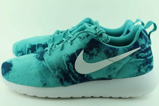ROSHERUN PRINT RETRO TEAL MEN Size  12.0 NEW STYLISH RARE AUTHENTIC