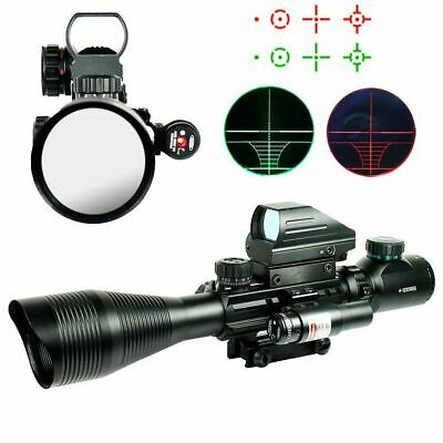 Rail Riflescope Hunting Gun Optics Holographic Red Dot Sight 4 Reticle Tactical