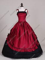 Victorian Gothic Dark Queen Dress Ball Gown Theater Reenactment Clothing 246
