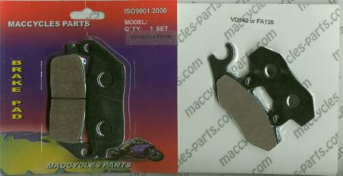 Triumph Disc Brake Pads Bonneville T100 2002-2005 Front /& Rear 2 sets
