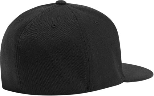 ICON Fused Flex-Fit Flat-Bill Hat//Cap Black Choose Size
