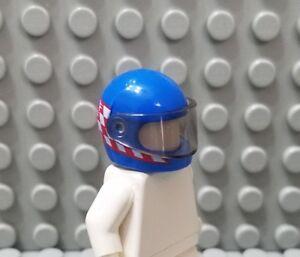 ☀️Lego Minifig Dark Blue Racing Space Race Car Driver Helmet Headgear