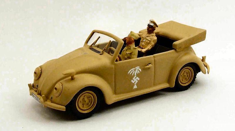 Volkswagen vw - aktion figurerica korps 2 zahlen rommel + fahrer 1 43 rio4376p