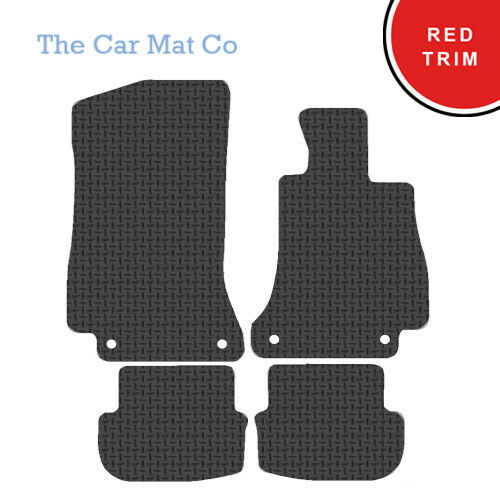 Fully Tailored Rubber Car Mats With Red Trim Mercedes C Class Cabriolet 2016