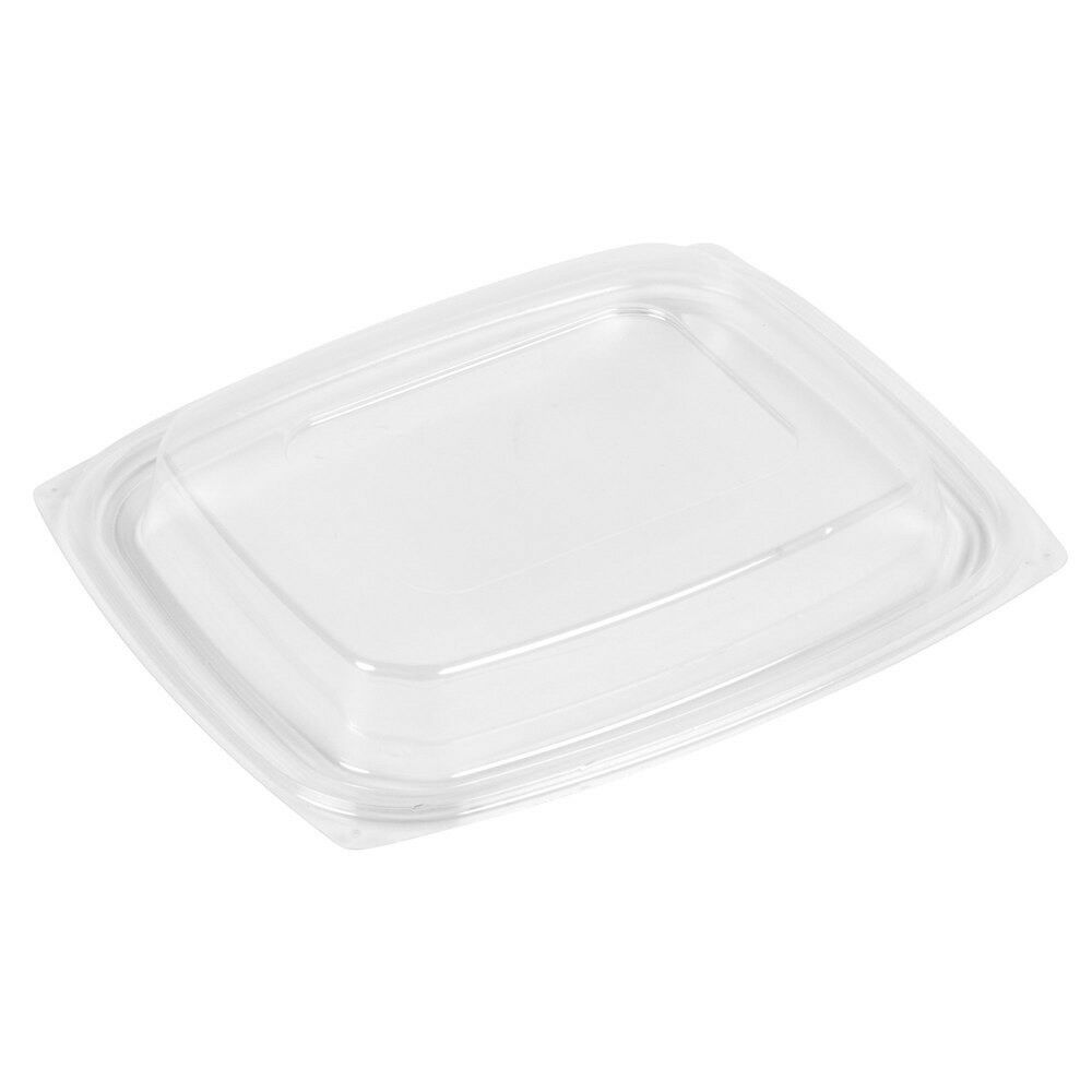 ClearPac Clear Rectangular Dome Plastic Lid 504//Cs Dart C32DDLR