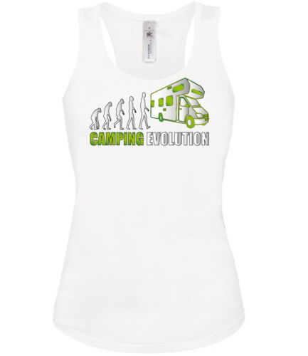 CAMPING EVOLUTION Tank Top Damen S-XL Fun Shirt Golebros