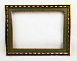 Vintage-Small-Picture-Frame-Gold-Gilt-Gesso-Baroque-Style-Fits-8x6