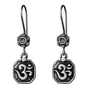 925-Sterling-Oxidized-Silver-Plated-dangle-Earrings-Jewelry-6-01-g-cci