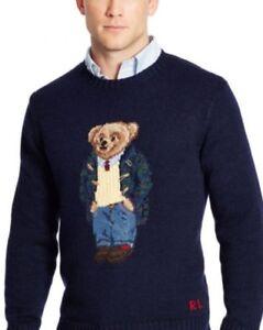 Edición Big Knit Teddy Ralph limitada Tall Bear Cable Polo Sweater Lauren UqwT0