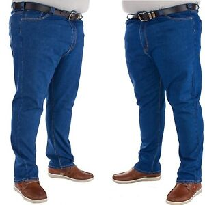e47c1178 Mens New Kam Regular fit stretch Stone wash Jeans in Big Tall king ...