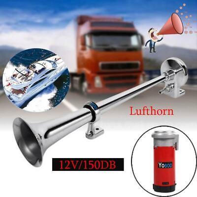 12V 150db Fanfare Lufthorn Druckluft Horn Hupe mit Kompressor für Auto LKW ZI 01