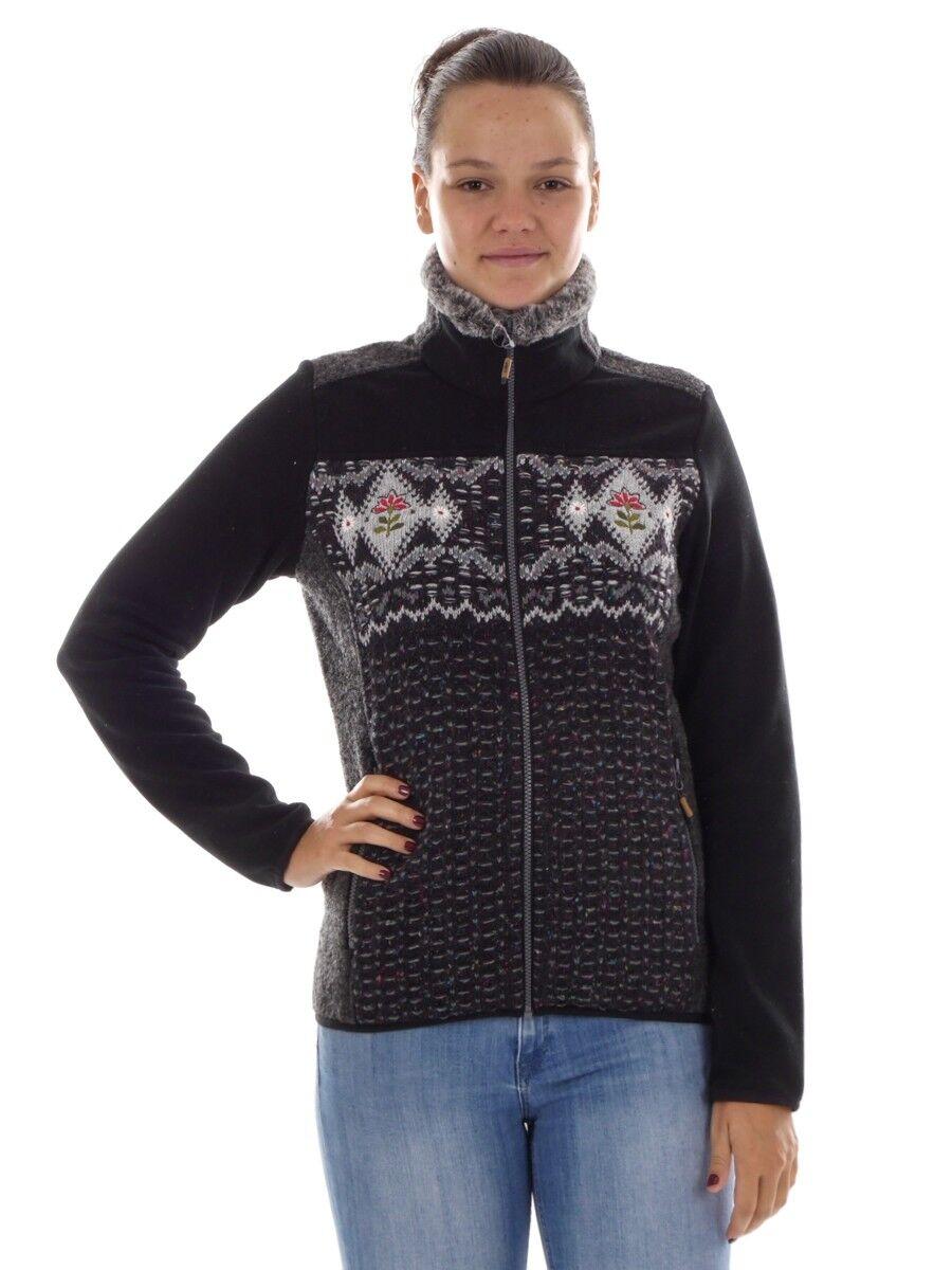 CMP Chaqueta Polar Cuello de la Algodón black Bordado Bolsos Cálido