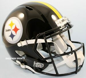 d9372c6b Image is loading PITTSBURGH-STEELERS-Riddell-Full-Size-SPEED-Replica-Helmet