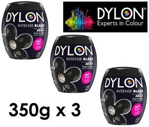 3-x-DYLON-Intense-Black-Machine-Dye-Pod-350g-Permanent-Colour-Wash-Dye-All-In-1