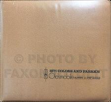 1971 Olds Color and Upholstery Dealer Album 442 Supreme Cutlass 88 98 Toronado