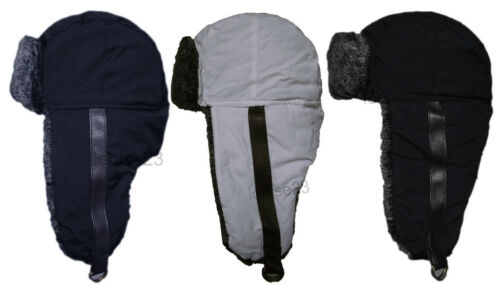 X32 THERMAL SHOWER PROOF RUSSIAN TRAPPER SKI HAT LEATHER STRAP FASTEN FUR LINED