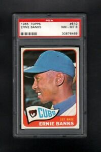 1965-TOPPS-510-ERNIE-BANKS-HOF-CHICAGO-CUBS-PSA-8-NM-MT-SHARP-CARD
