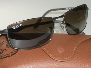 c7e81e95bb RAY-BAN RB3498 029 T5 64  17 BROWNISH GRADIENT POLARIZED RECTANGULAR ...