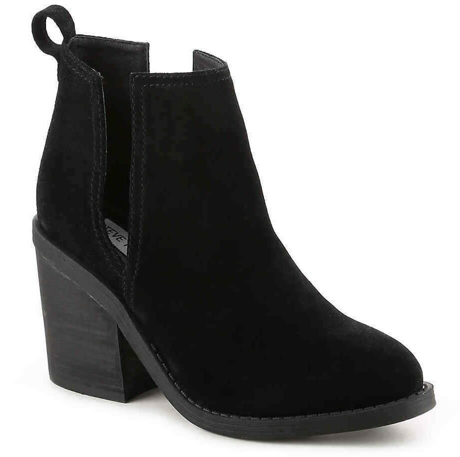 Steve Madden Sharini Womens Suede Cut-Out Ankle Boots