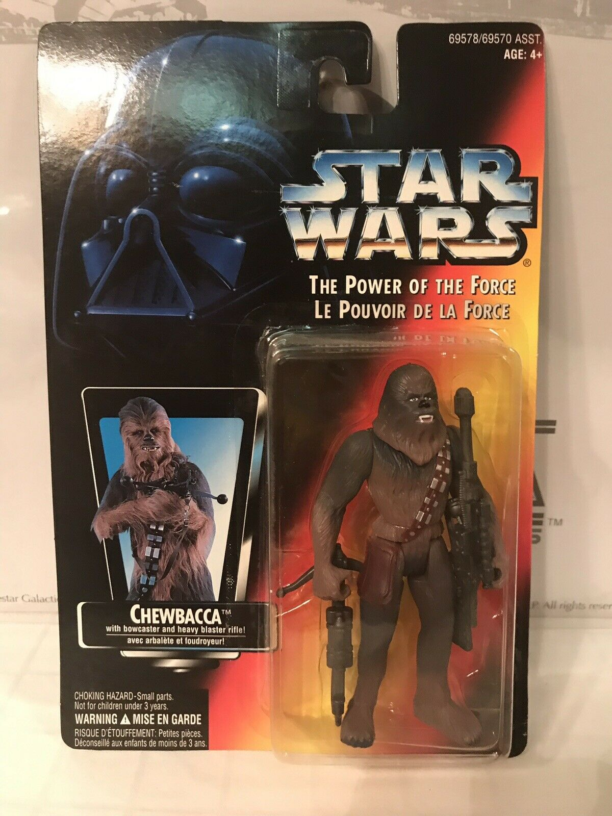 Star Wars The Power Of The Force Chewbacca French Canadian Square Card