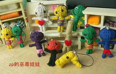 New 100 Pcs string Voodoo doll cell Phone Bags straps Charms 7cm party supplies