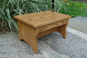 Solid Oak Handcrafted Heavy Duty Step Stool Wooden