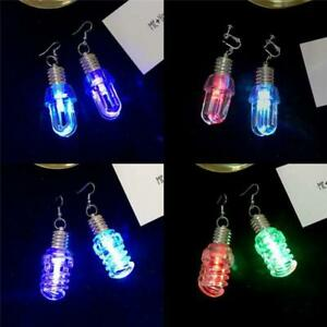 896c23c3eec99 Details about Light Up Earring LED Blinking Bulb Ear Hook Big Dangle  Earrings Jewelry CZ