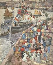 Maurice Prendergast Reproduction: The Quai, Venice, c.1900 - Fine Art Print