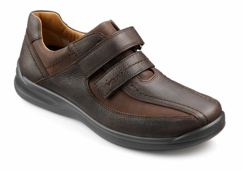 Hotter Mens Medway Brown Wide Fitting Comfort Shoes rrp £75