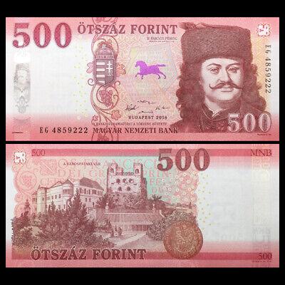 2019 UNC Hungary 500 Forint 2018 Consecutive 5 PCS LOT P-New Design
