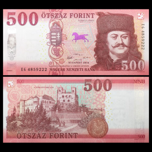 Europe Paper Money 2018 Hungria Hungary 500 Forint Banknote UNC P-NEW