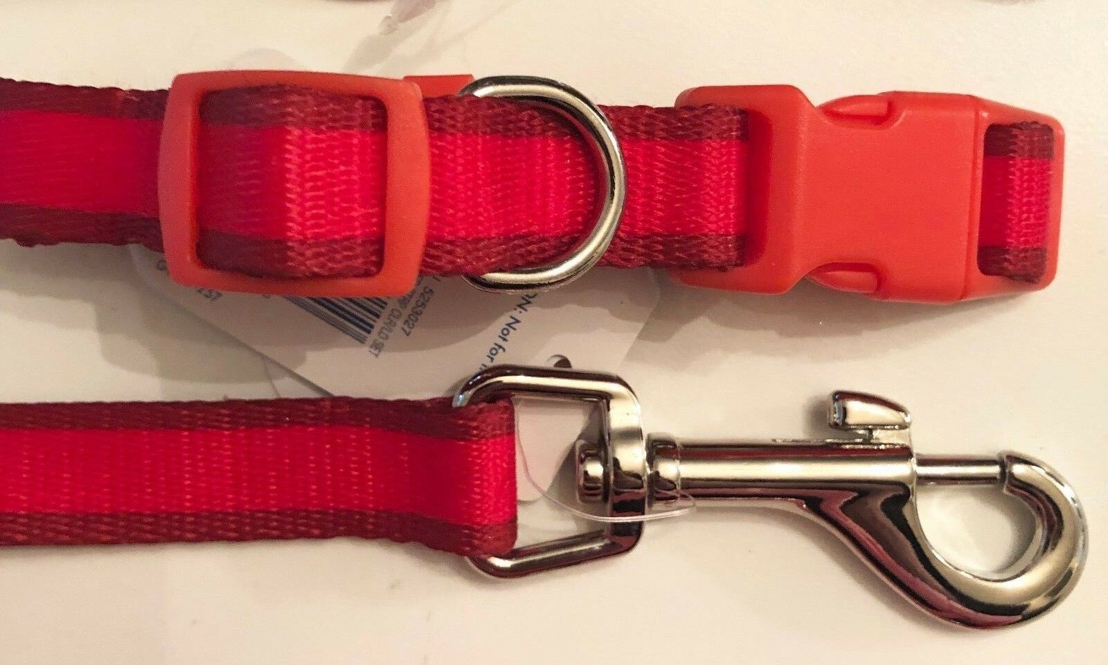 Little Petface Puppy Collar//Lead Set Small Red