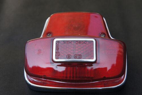 VESPA Sprint//Super//Rally Chrome Rear Tail light Unit Siem Stamp