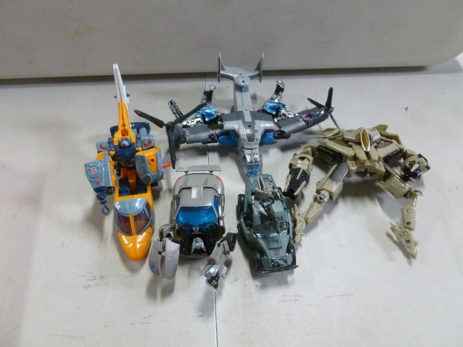 Lot of 5 Assorted Transformers with Jazz