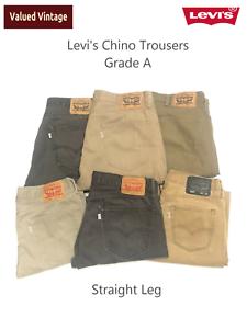 Levis-Levi-Herren-Chino-Hose-501-505-514-Straight-Leg-w30-w32-w33-w34-w36-w38