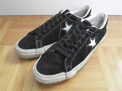 EUC Rare Vintage Converse One Star Suede Leather Shoes Black 8.5 Made in U.S.A. | eBay