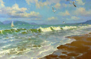 LMOP1145-hand-painted-seascape-sea-wave-amp-flying-birds-art-oil-painting-on-canvas