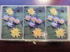 3 Deck Congress Lily Pads Samba Canasta Playing Cards 1 With Tax Stamp 1 Sealed