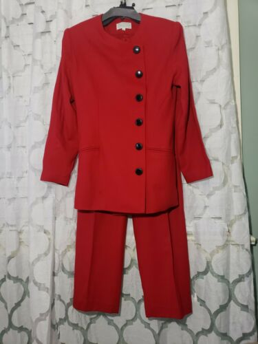 Saks Fifth Avenue Folio Collection Red Pant Suit w