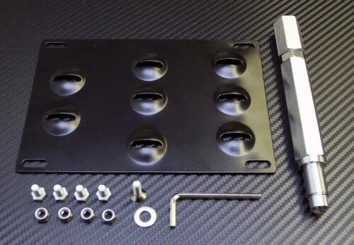 Front Bumper Tow Hook License Plate Mount Bracket Holder for Nissan GTR 09-15