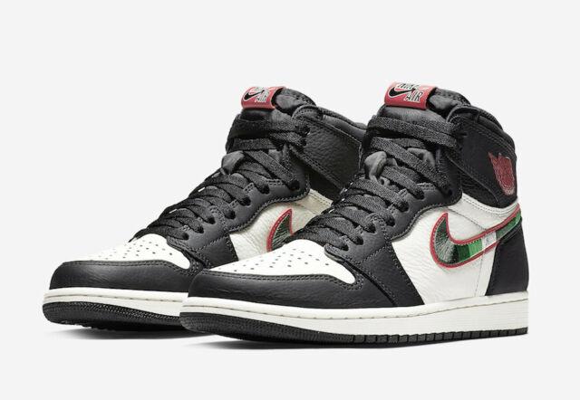 4c3e7561187d Nike Air Jordan 1 Retro High OG Sports Illustrated Size 6.5Y-11 Black 555088