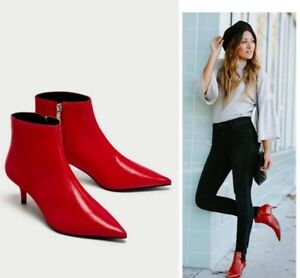 ZARA-BEAUTIFUL-LOW-HEEL-POINTED-ANKLE-BOOTS-SHOES-WITH-ZIP-NEW-DRESS-COAT