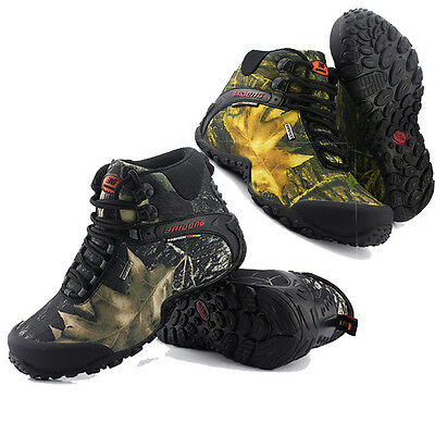 Mens Camouflage Outdoor Hiking Hunting Camping Climbing Ankle Boots Shoes 40~46