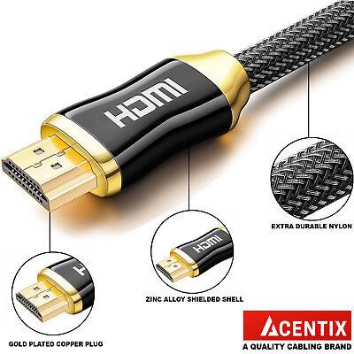 4K PREMIUM HDMI Cable v2.0 0.5M//1M//1.5M//2M//3M//5M-10M High Speed HD UltraHD 2160p