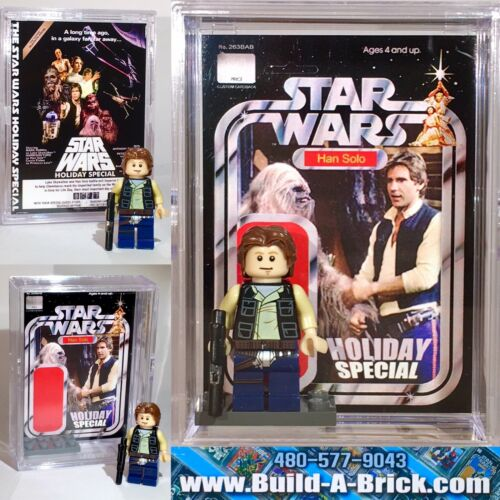 Star Wars Han Solo Holiday Special Custom Mini Action Figure w Display Case 264