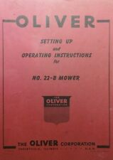 Oliver 22 B 3 Point Sickle Mower Operators Set Up Service Amp Minor Parts Manual